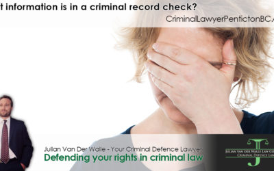 What information is in a criminal record check?